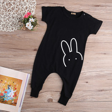 Baby Girls Clothes Romper Jumpsuit Black Cotton Kids Clothing Newborn Cotton Rabbit Bunny Girl Clothing
