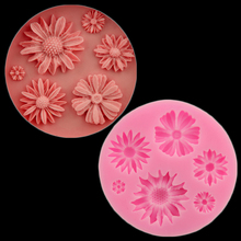 Chrysanthemum Fang Dan Cake Decoration Silicone Mold Flower Chocolate Mold Diy Baking Sun Flower Candy Gerbera Daisy Flower(China)