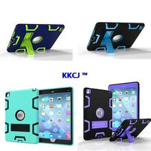 WES Armor Dual Layer Heavy Duty Protection Back KickStand Case Kids Safe Cover For Apple iPad Air 2  For New Ipad pro 9.7 inch
