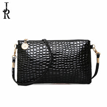 2016 tide shoulder bag ladies Japan and South Korea coin bag crocodile pattern Messenger bag mobile zero wallet