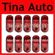 THTMH 10pcs LED MARKER CLEARANCE SUPERFLUX ABS lensTrailer TRUCK Lamp LIGHT 12V 24V RED SAE & DOT Approved(China)