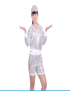 Chinese Folk Dance Custome Modern Fashion Dance Clothing Square Dance Costume Stage Female Adult Music Allegro Dance Short Skirt