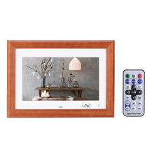 "Andoer 10""  Wood HD LCD Digital Photo Frame Support MP3 MP4 Music  Movie Player E-book Calendar Clock with Remote Controller"