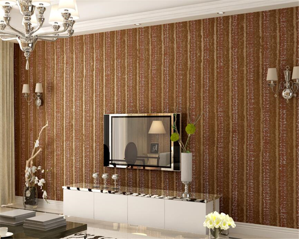 Beibehang European Stereo Relief Wallpaper Retro Striped Background Wall Study Room Living Room Bedroom 3d Wallpaper roll mural<br>