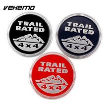 SUV 3D Trail Rated 4x4 Emblem Decal Sticker Badge Medal Paster For Jeep VW