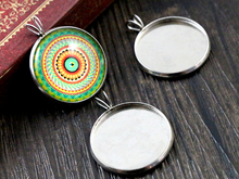 ( Never Fade ) 10pcs 20mm Inner Size 316 Stainless Steel Material Simple Style Cabochon Base Cameo Setting Pendant Tray (D3-77)