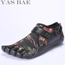 Yas Bae Camouflage Big Size China Brand Design Rubber with Five Fingers Outdoor Resistant Breathable Light Weight Shoe for Men