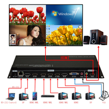 DP HDMI 4x1 Quad Multi-Viewer, Video Quad splitter,Quad HDMI Video Processor,HDMI multi-plexers,resolution up to 1920*1080@60HZ(China)
