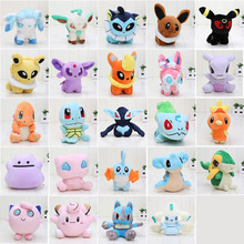 27styles 11-18cm Pocket doll Chespin Meowth Snivy Torchic Jirachi Ampharos Mudkip Plush Toy Soft Plush Doll Toy free shipping