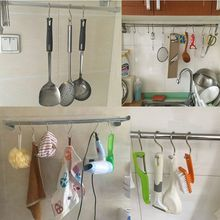 10Pcs Practical Stainless Steel S Shape Hooks Kitchen Hanger Clasp Holder Home Bathroom Kitchen Sorting(China)