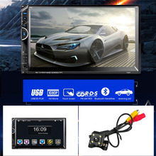 "Cimiva 7"" Bluetooth Car Radio Video MP5 Player Autoradio FM AUX USB SD 7001 HD 1080P Touch Screen With AM + RDS Music Movie"
