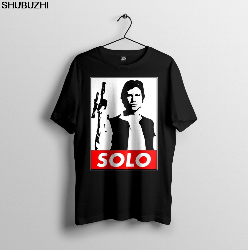 Han Solo Damn Right I Shot First Vintage Black T-shirt S-3XL