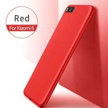 X-LEVEL for Xiomi Mi 6 Cases Guardian Series Matte TPU Protection Mobile Cover for Xiaomi Mi 6 fundas coque capa for Mi6  Red