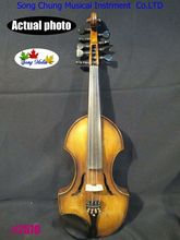 Baroque style SONG Brand Maestro 4x5 strings 4/4 violin, double sound board#2570