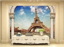 3d wallpaper custom photomural non-woven Rome Tower of Paris, France decoration painting 3d wall mural wallpaper for walls 3d