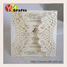 Elegant invitation cards 50sets/lot Laser Cut folding Wedding Invitation Cards Birthday Greeting Cards Wishing Invitation Cards