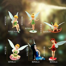 6pcs/lot Tinkerbell Fairy Cartoon Display Collection Toy Anime Tinkerbell Fairy PVC Action Figure Model Juguetes Girl's Gift(China)