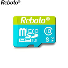Reboto green micro sd card TF card memory card class6 4GB 8GB Flash Memory Microsd microSDHC For SmartPhone
