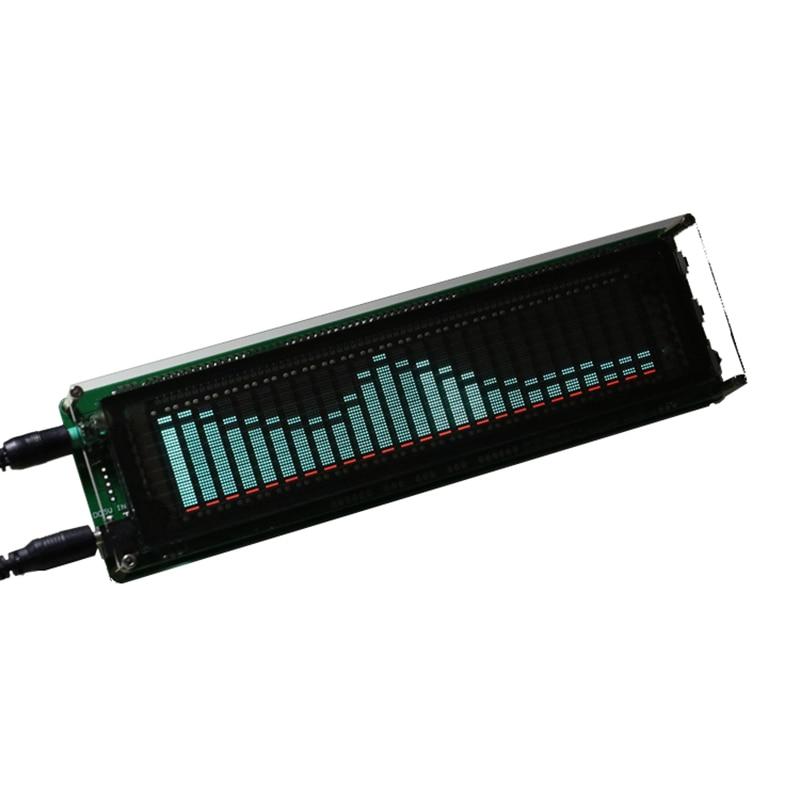 Pantalla LED indicador de nivel verde 17 medidor de VU VFD FFT música Spectrum 4 Amplificador