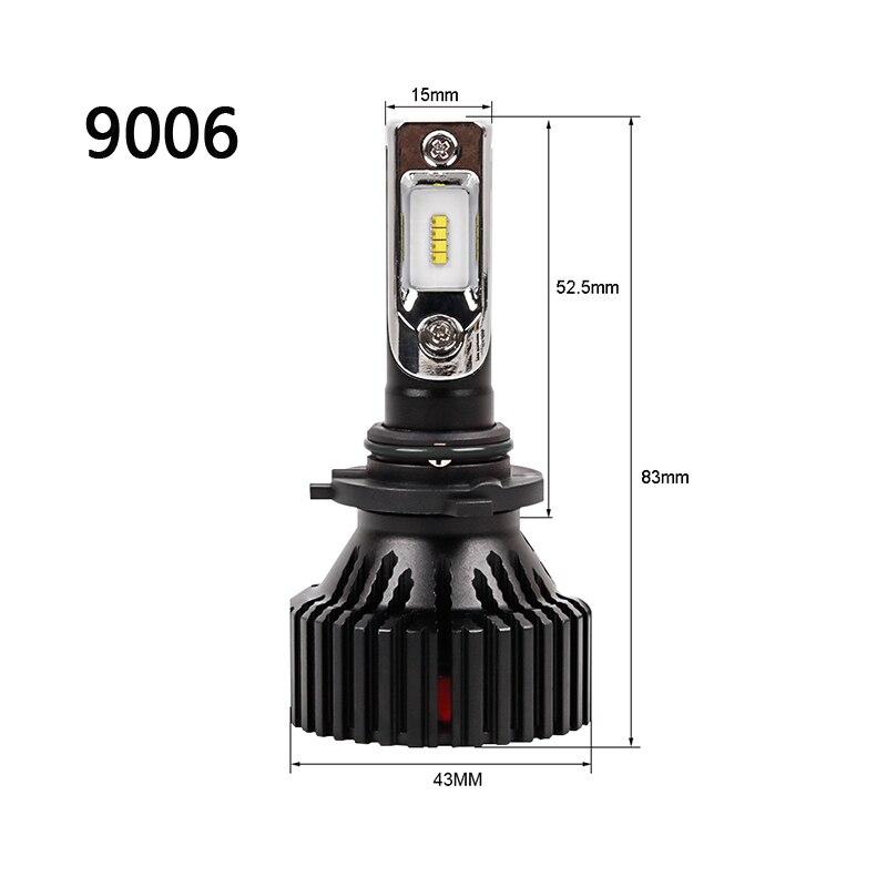 CN360 2PCS Car LED Light Headlight H4 H7 H8 H9 H11 9005 HB3 9006 HB4 12V 6500K LED Auto Bulb Headlamp Fog Lamp 60W 8000LM 19