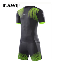KAWU DIY  football jerseys Set Custom Made 2017 Men Soccer Suit survetement Sports Clothes Summer Suit maillot de foot S17027