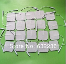 Free Shipping 30pcs/lot(15 pairs) 5*5cm Tens Electrode Pads for Slimming Massage Digital Therapy Machine Massager(China)