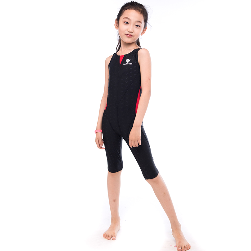 HXBY 5 color Professional Swimming Suit One Piece Suit Sleeveless Girl Child Swimsuit Quick Dry Girl Female Swimwear all season<br>