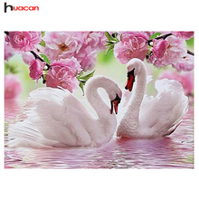 HUACAN 5D DIY Diamond Painting Embroidery Swan Crystal Drawing Needlework Gift Full Diamond Mosaic Cross stitch Home Decor MH270