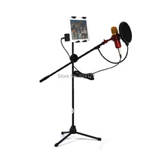 Karaoke Mixer set Condenser Micrphone Floor Type Microphone stands and holders Free 2 Mount for ipad/cellphone Free Shipping