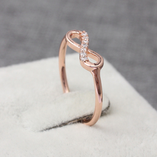 Simple Ring Endless Symbol Infinity Promise Ring with CZ(China)