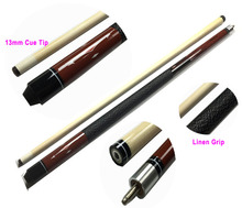 "Brown Billiards Cue Stick 13mm Maple Pool Cue 58"" 1/2 split Nine-ball Arm Cue Stainless steel Joint Cue stick"
