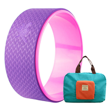New Yoga Wheel Pilates Yoga Circle Bonus Bag(China)
