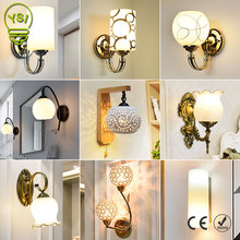 Modern Wall Lamp E27 Vintage LED Wall Light AC85-265V Simple Sconce Lamp Bedside Wall Fixtures Home Decoration Lighting
