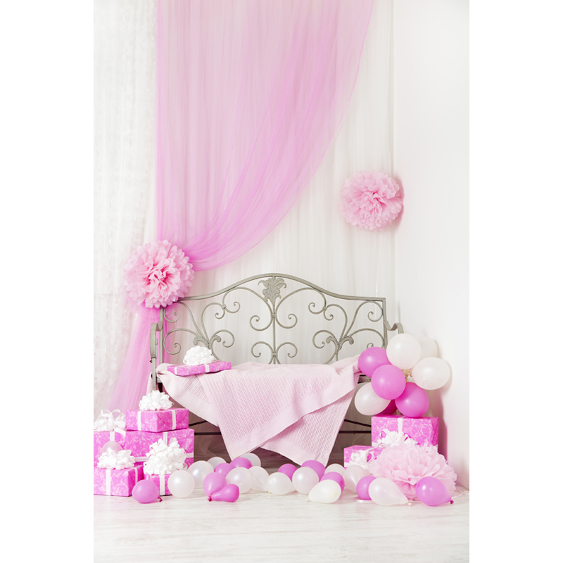 Vinyl Photography Backdrops Balloons and gift box Newborns Customized Computer Printed Background 5X7ft  F-1856<br><br>Aliexpress