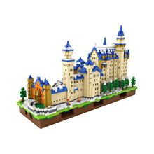 6600 PCS New Swan Stone Castle Model Building Kits LOZ Diamond Blocks The World Famous Buildings DIY Assembly Educational Toys