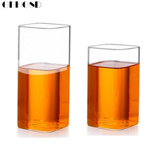 Best Promotion 400ML Heat-resistant Ransparent Square Glass Cup Bar Party Club Drink Cups Coffee Shop Beer Milk Juice Tea Mug(China)