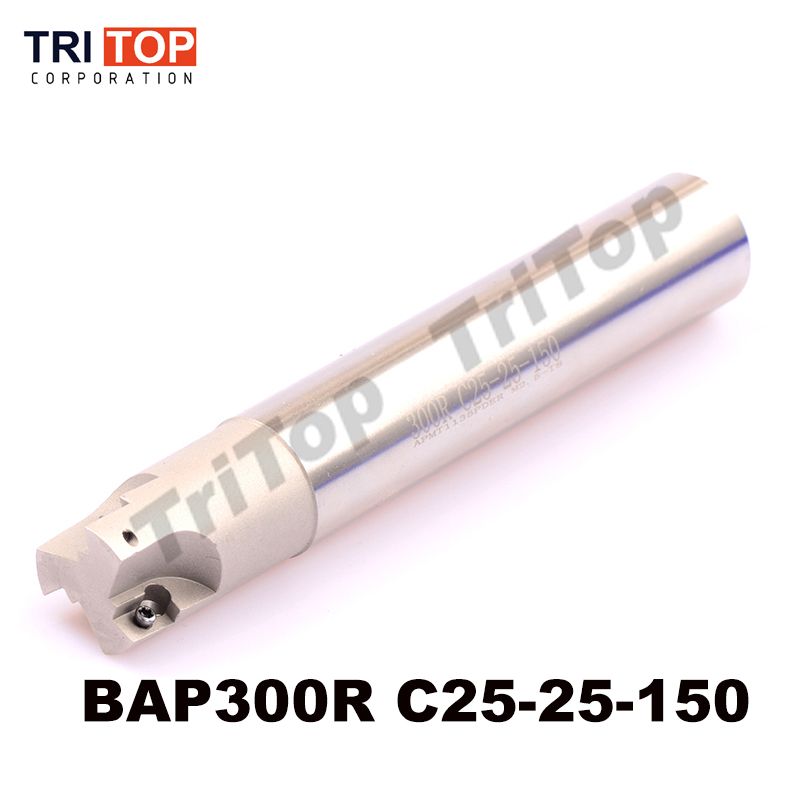 BAP JAP 300R C25-25-150 D25 LENGTH 150 Milling tool head face mill for cnc milling machine for insert APMT1135 APMT1135PDR APMT<br>