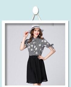 2017 fashion floral print women V neck ruffles summer dresses plus ...