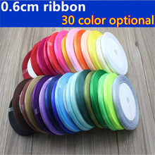 6MM 25Yard Long Pretty Silk Satin Ribbon Wedding Party Decoration Invitation Card Gift Wrapping Scrapbooking Supplies Riband(China)