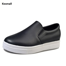 Kesmall Ladies platform Shoes canvas shoes Flats Slip On Solid Woman Leisure breathable Shoe Female Fashion Casual Shoes JF