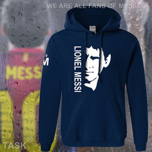hoodies men lionel messi leo m10 argentina star sweatshirt polo sweat new foot ball player streetwear fleece barcelona 2017 06(China)