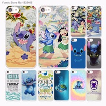 Ohana stitch lilo and stitch family Design hard White Skin Case for Apple iPhone 6 6s Plus 7 7Plus SE 5 5s 5c phone case(China)