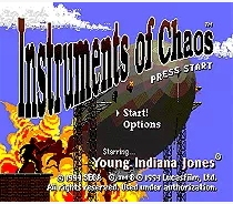 Game Cartridge - Instruments of Chaos Starring Young Indiana Jones For 16 bit Sega MegaDrive Genesis Game console EUR/USA Case