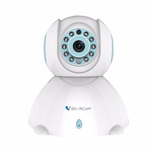 Free Shipping Wireless Indoor HD P/T IP Camera One-Key Wifi Setup Two-Way Audio Night Vision 10M IR Distance Two Way Audio