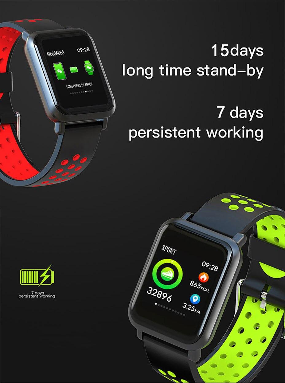 COLMI Smart Watch Men Tempered glass Fitness Tracker Blood pressure IP68 Waterproof Activity Tracker Women Smartwatch 7