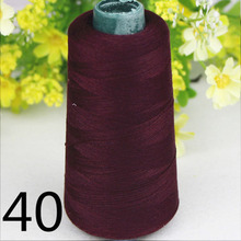 55colors sewing supplies polyester high speed crimson sewing thread DIY 40S/2 3000yards high Quality for industrial