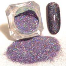 1.5g BORN PRETTY Starry Holographic Laser Glitter Powder Holo Nail Dust Manicure Nail Art Glitter Powder Decoration