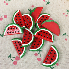10Pieces Flat Back Resin Cabochon Artificial Fruit Watermelon DIY Flat Back Decorative Craft Embellishment Accessories:17*35mm