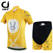 Cheji 2017 New Kids Cycling Jersey Cartoon Summer Bike Shirts Ropa Ciclismo Breathable Cycling Clothing Outdoor Bicycle Clothes
