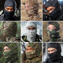 18 Color Multicam CP Camouflage Tight Balaclava Tactical Airsoft Paintball Combat Military Bicycle Full Face Masks Snowboard Cap